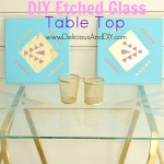 DIY Etched Glass Table Top