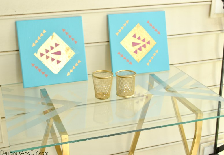 DIY Etched Glass Table Top - Delicious And DIY