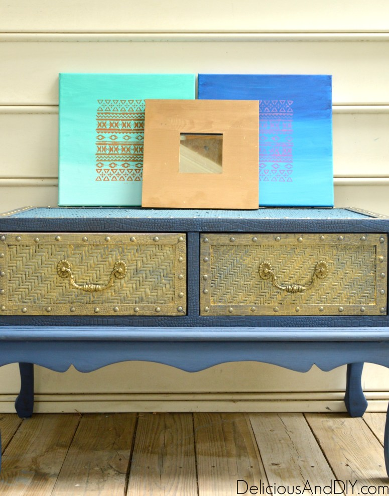 Wood Coffee Table Makeover -Delicious And DIY
