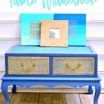 Wood Coffee Table Makeover {Two Tone Paint Job}