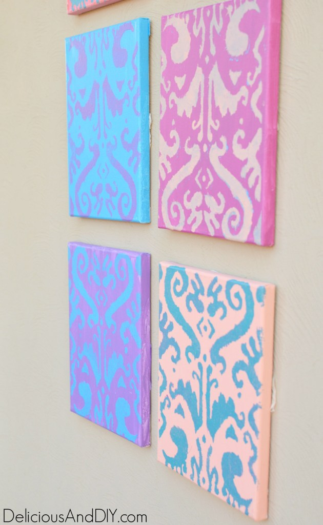 Mini Canvas Gallery Wall - Delicious And DIY