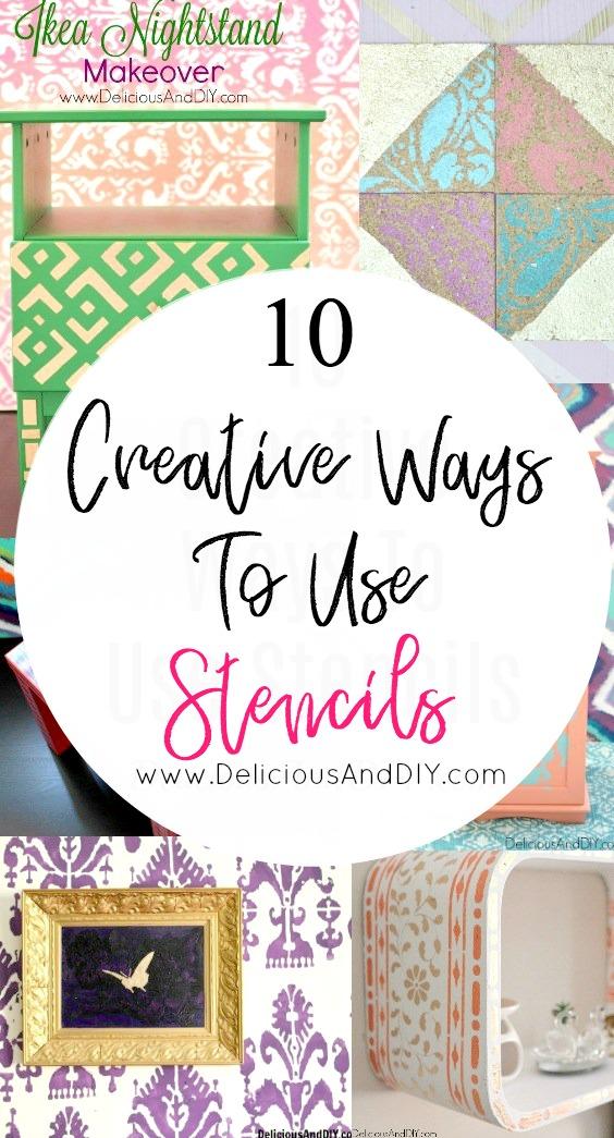 10 Creative Ways To Use Stencils- Delicious And DIY