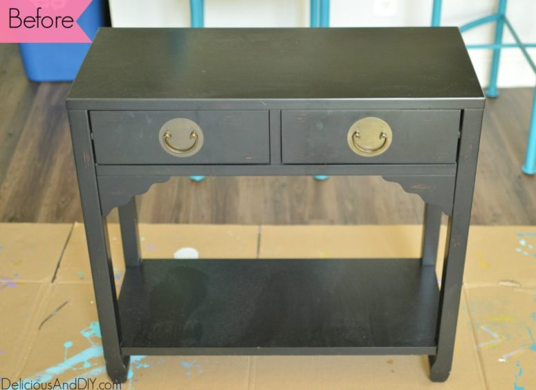 Console Table Makeover using stencil| Painted Furniture| Home Decor| DIY Projects| Craft Projects| Before and After Furniture
