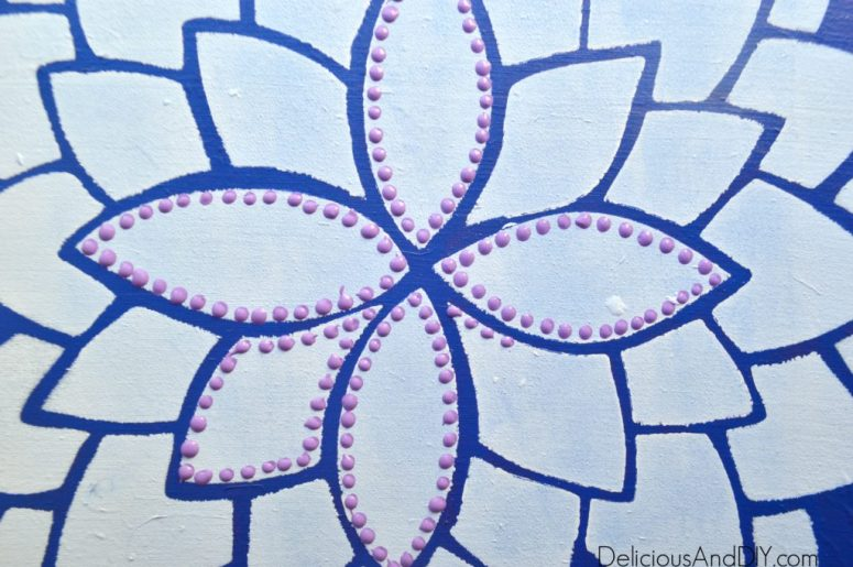 Dotted Flower Art| Gallery Wall Ideas| Home Decor| Easy Home Decor Ideas| Decor on a Budget| Flower Art| Dotted Art