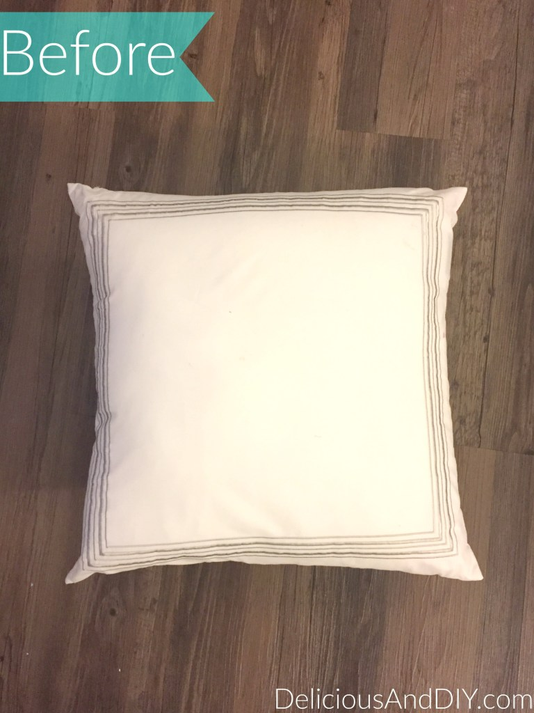 Rose Pillow Makeover - Delicious And DIY