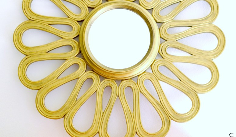 Gold Flower Mirror