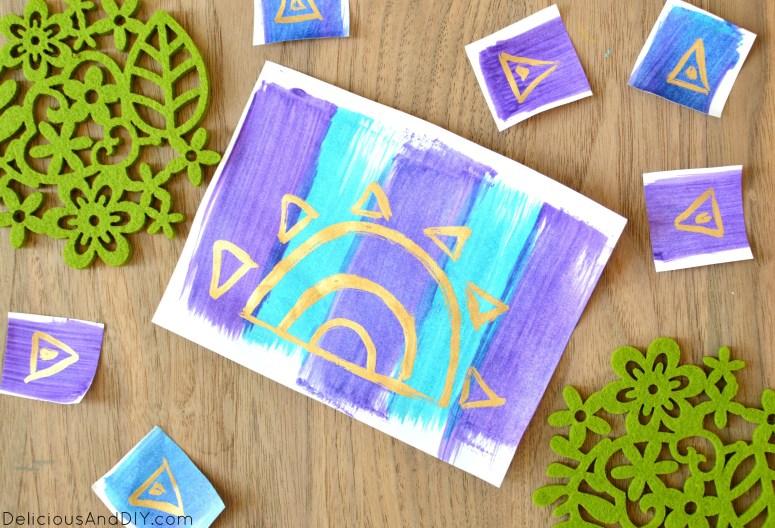 DIY Hand Painted Card Idea- Delicious And DIY
