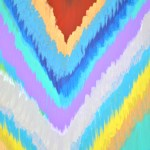 How To Paint An Ikat Chevron Canvas Art