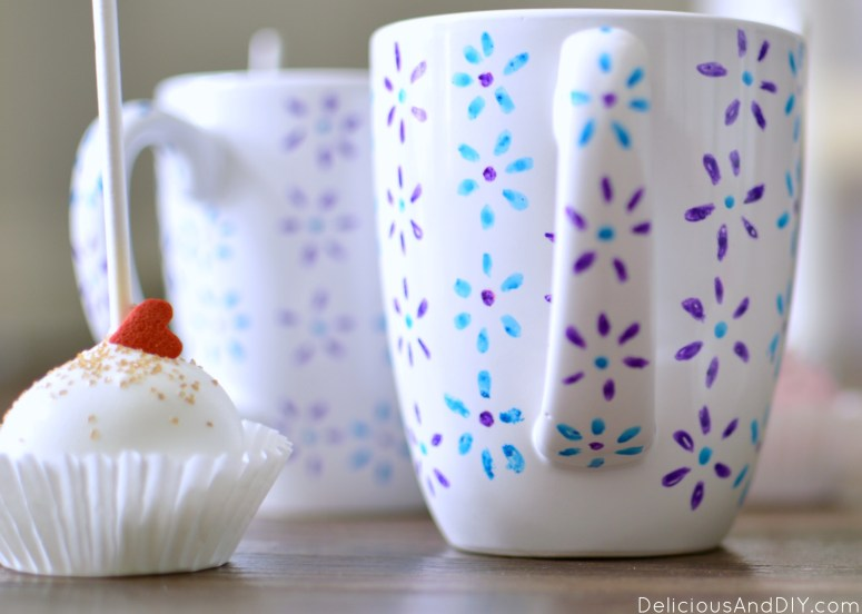 Hand Painted Floral Mug| Anthropolie Inspired Mugs| Glass Painted Mugs| Recycle Old Mugs| Flower Painted Mugs