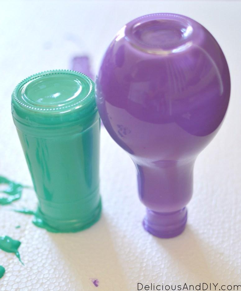 Create Beautiful Painted bottles   Upcycle unused bottles   Painted Bottle Ideas   Ideas for recycling wine bottles