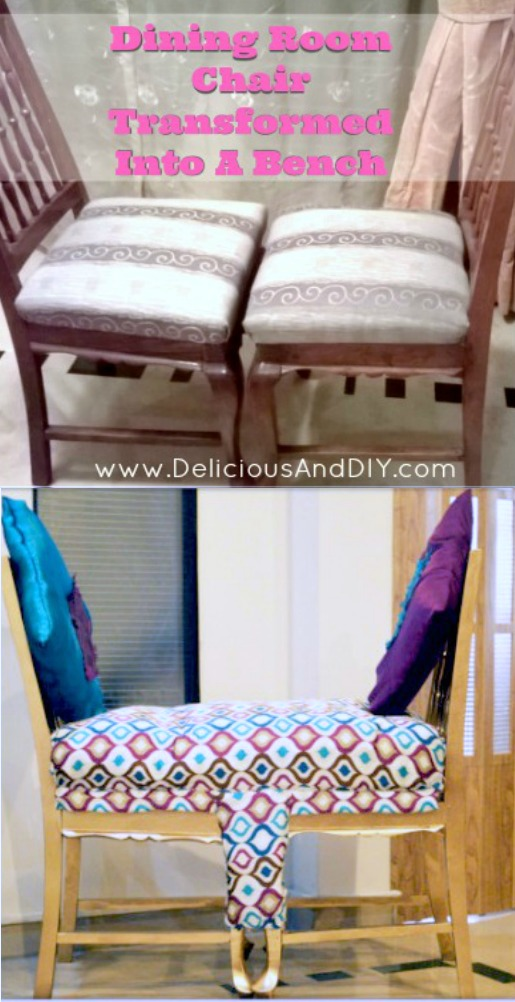 Diy Dining Room Chairs Transformed Into A Bench Delicious And Diy