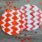 Ikat Chevron Clay Coasters