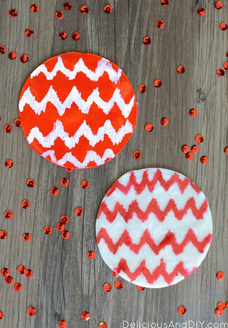 Ikat Clay Coaster| Clay Projects| Clay Craft Ideas| Ikat Pattern | Hand Made Clay Projects| Coaster Ideas