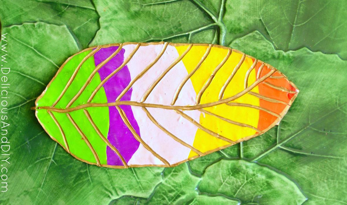 Clay Leaf Decoration - Delicious And DIY