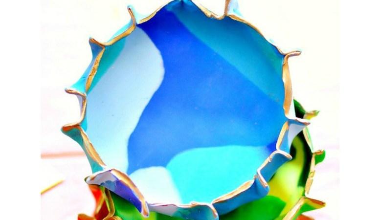 DIY Marbled Clay Bowls
