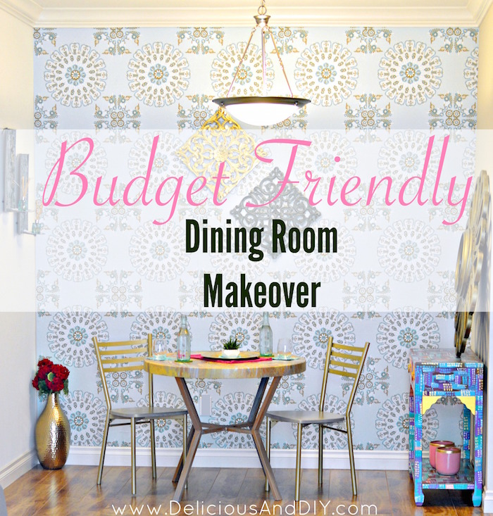 DIY Budget Friendly Dining Room Makeover