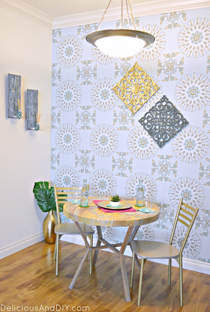 DIY Budget Friendly Dining Room Makeover