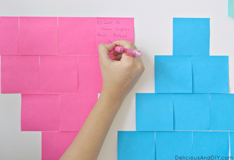 Southwestern Inspired Goal Setting Wall| Aztec Inspired Wall| Creative Wall Ideas| Creative Goal Setting Wall| #shop | #backtoschoolgoals | Post-it® Goal Seeting Wall| Southwestern Inspired Post-it® Back To School Goals| Wall Ideas| Room Reveal| Office Wall Ideas| Office Wall Makeover| Bright and Colorful Walls