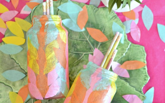 Decoupaged Tissue Paper Bottle Ideas