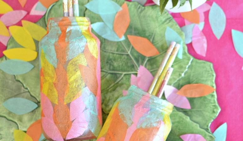 Decoupaged Tissue Paper Bottle Ideas