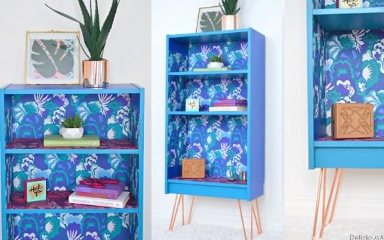 Modern Bookshelf Makeover