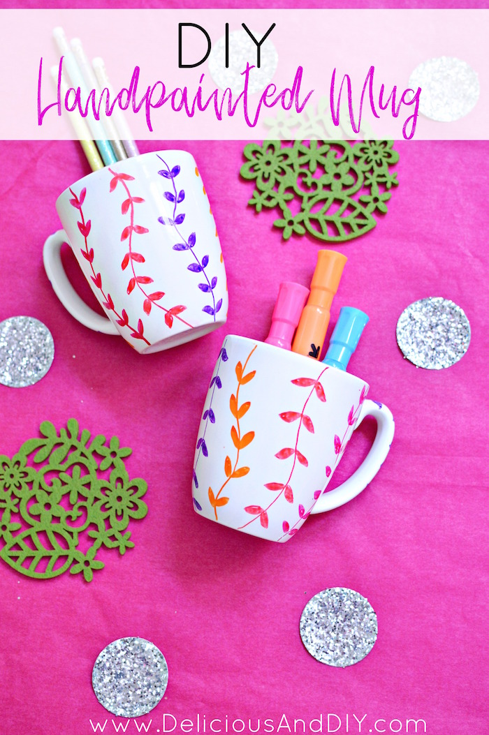 Easy Handpainted Mug Makeover Using Glass Paint Markers In Under 15 Minutes