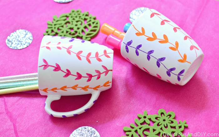 Easy handpainted Mug Makeover using Glass Paint Markers in under 15 minutes| DIY Crafts| Glass makeover| Mug crafts| DIY Glass Painted Home Decor| Vine Mug Makeover| Easy Craft Projects| Home Decor Ideas