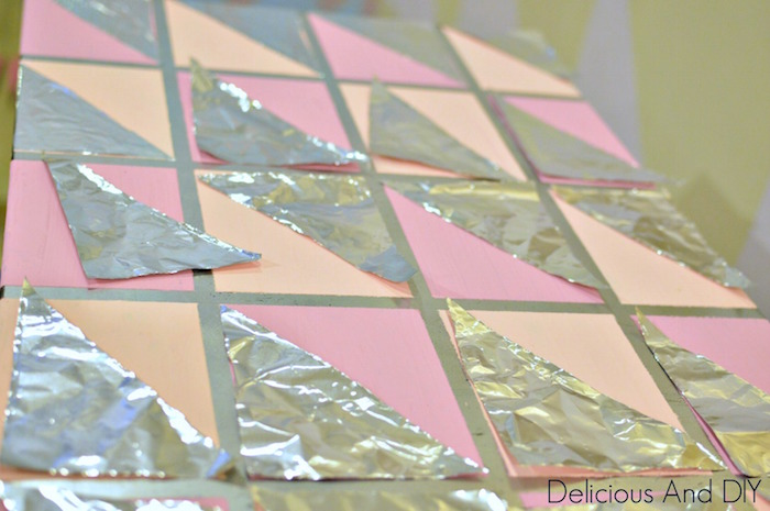 Create this super budget friendly table just by using Aluminum Foil which is available in every household| Home Decor| Furniture Makeover| Nifty Home Decor Ideas| Budget friendly Home Decor Idea| Before and After| Decoupage Table| Faux Silver Leaf Table| Chalk Paint Table| Recycled| Repurposed| Before and After| Table Ideas