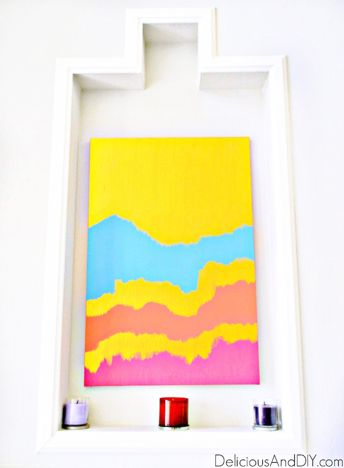 Abstract Wall Art - Delicious And DIY