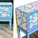 Flower Art Nightstand