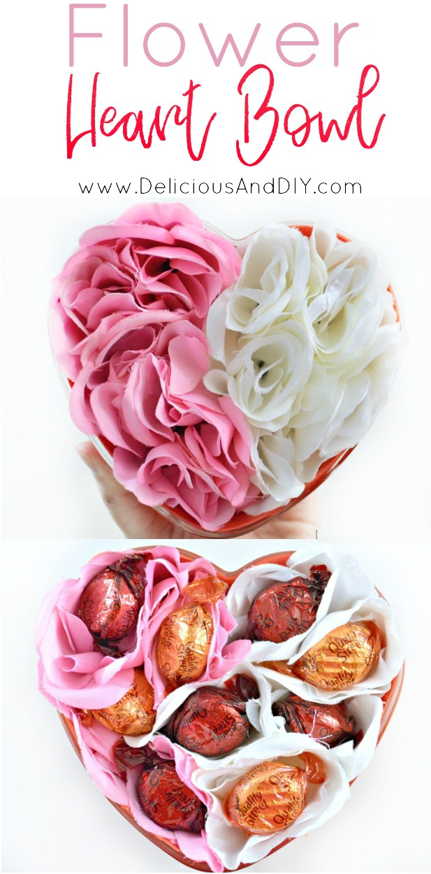 Create a customized thoughtful gift which is perfect for Valentines and special occasions  Easy Valentine Gift Ideas  Craft Ideas  DIY Projects  Flower Heart Bowl  Creative Gift Guide  Flower Heart Bowl  Dollar Tree Crafts  Roses and Chocolate Bowl Ideas  Chocolate Flower Bouquet 