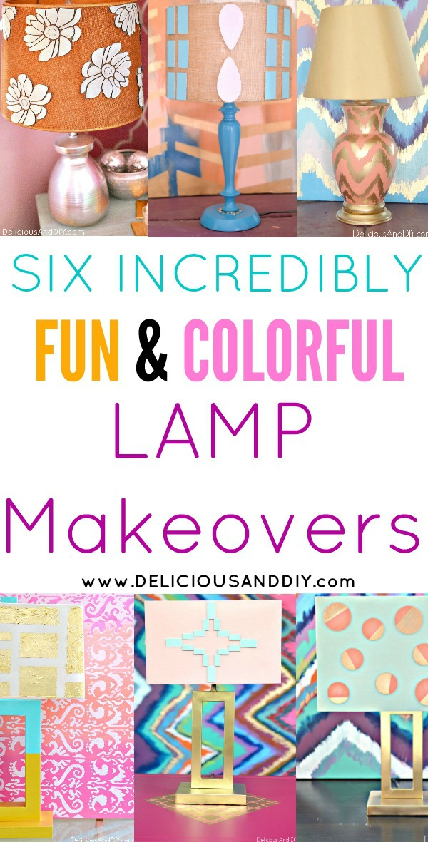 Transform those date lamps into these incredibly fun and colorful lamp makeovers  Painted Lamp Shades  Lampshade makeovers  DIY Crafts  Painted Lighting Ideas  Craft Lamp DIY Projects  Lamp Update Ideas  DIY Crafts  Painted Lamp Decoration Ideas  Lampshade Updates