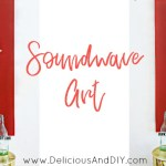 DIY Hand Painted Soundwave Wall Art