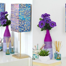 IKEA Watercolor Lamp Makeover