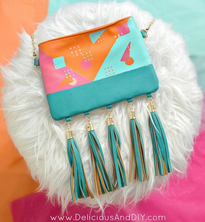 80s Inspired Bag Makeover Delicious And Diy
