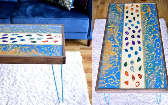 DIY Marbled Resin Coffee Table