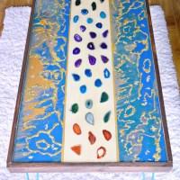 DIY Marbled Resin Wood Coffee Table