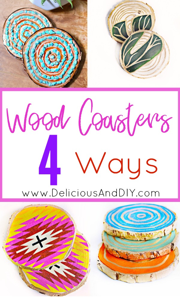 Learn the four different ways you can create gorgeous coasters by using Wood Stain, Resin and Decoupaging Technique| Coasters Ideas| DIY| Crafts| Beautiful Coasters