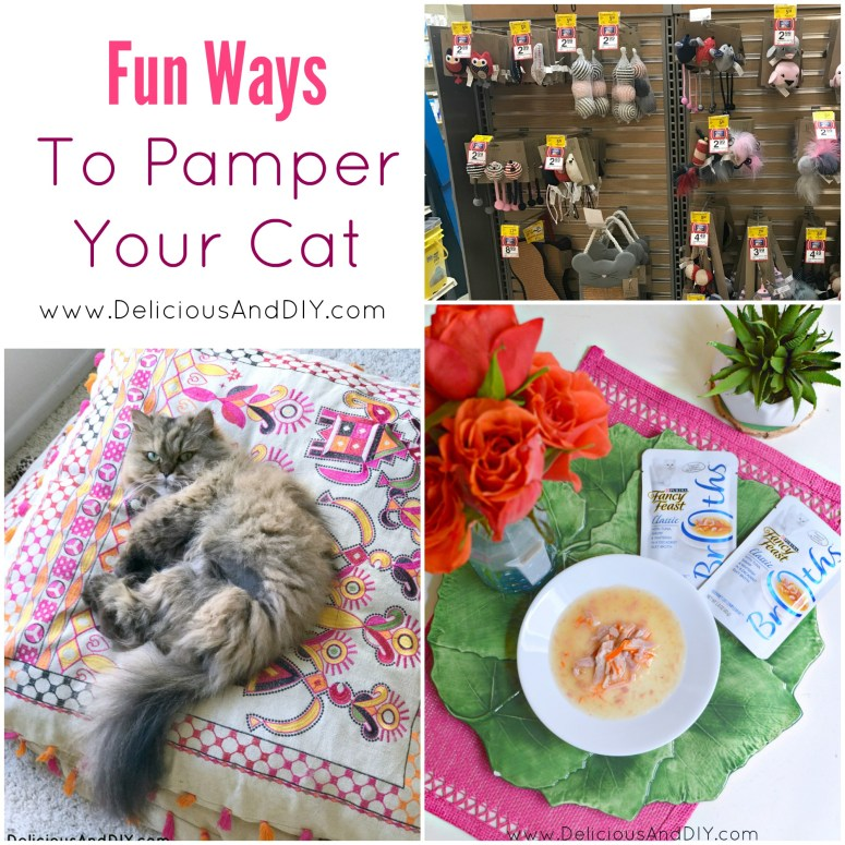 See how easy and fun it is to pamper your cat be it by giving your cat Purina Fancy Feast® food, creating DIY toys, creating a comfortable sleeping area and many more ideas to keep your cat happy and healthy| How to Spoil your cat in a budget friendly way| Happy Cat Ideas| #DineALaCat #ad