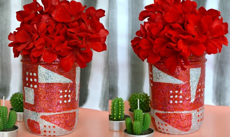 DIY Valentine Day Mason Jar