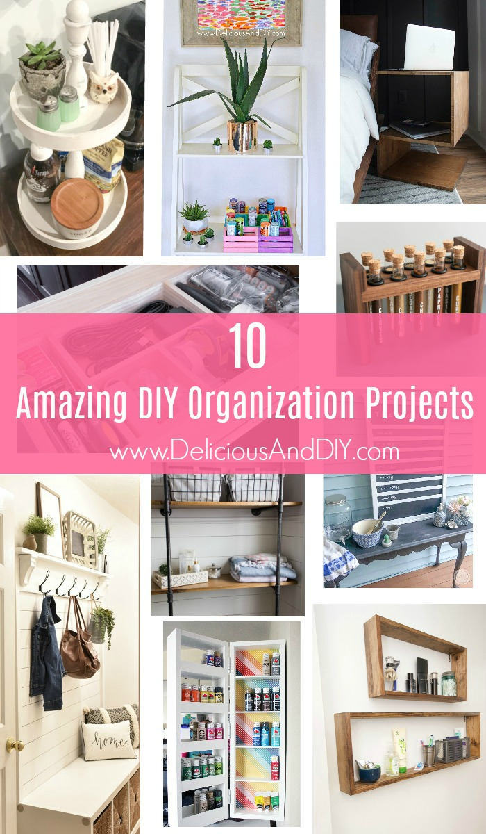 These 10 Amazing Organization Projects are surely going to get you excited to start organizing as not only they look beautiful but are super functional at the same time