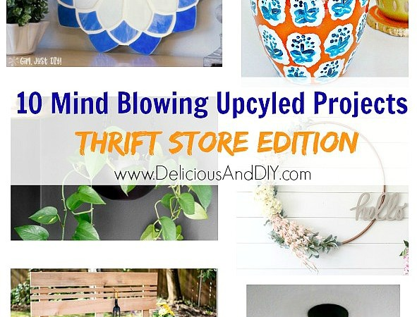10 Mind Blowing Upcycled Projects – Thrift Store Edition