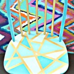 Wooden Chair Makeover- Using Only Masking Tape