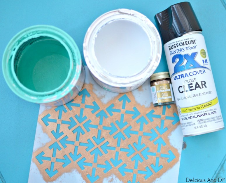 Paint Supplies Needed to Transform a Thrift Store Furniture