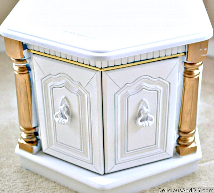 White Coffee Table ready to be painted with some Gold Accents