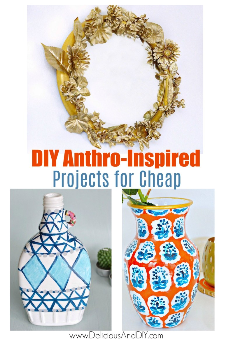 Anthropologie Mirror and Vases made on a budget