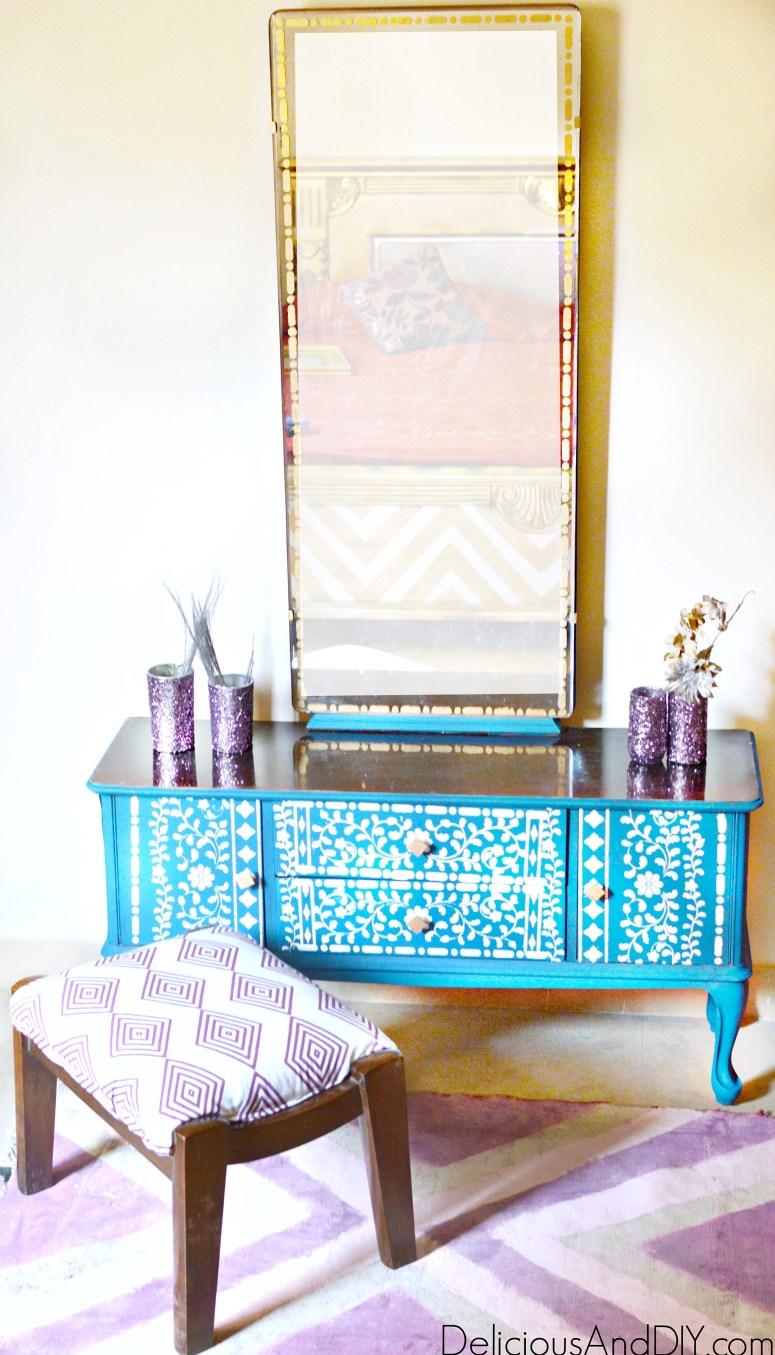 painted vanity dresser