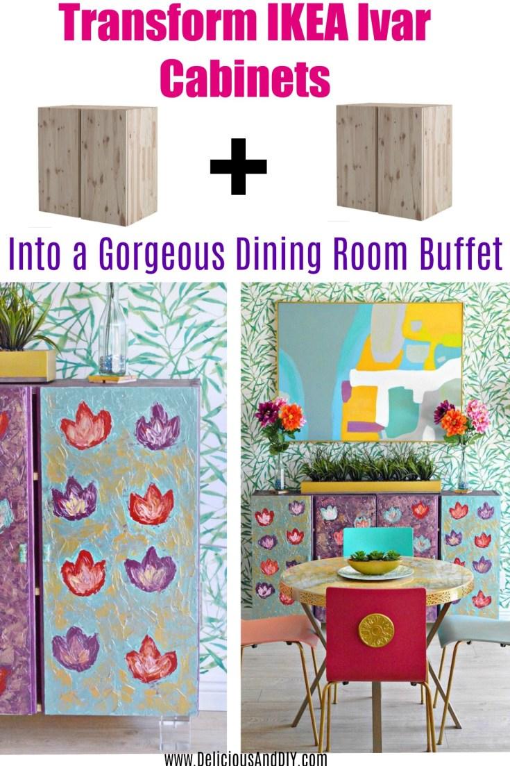 Ikea Ivar Cabinets Hack - Dining Room Buffet Table