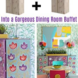 Ikea Ivar Cabinets Hack – Dining Room Buffet Table