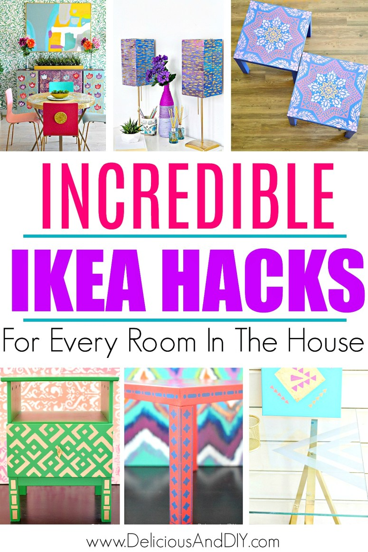 ikea furniture hacks collage